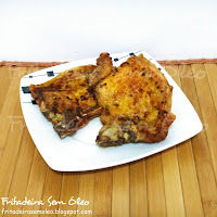 bisteca de porco frita suculenta