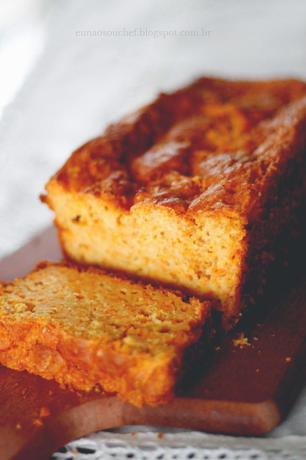 Bolo/pão funcional de cenoura