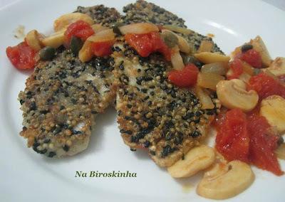 Linguado com Crosta de Quinoa e Gergelim