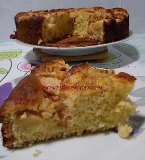 de torta de banana com canela simples