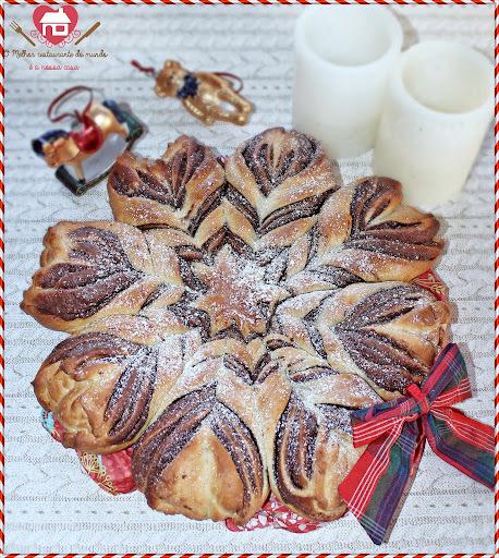 Flor de Pão Brioche com Nutella