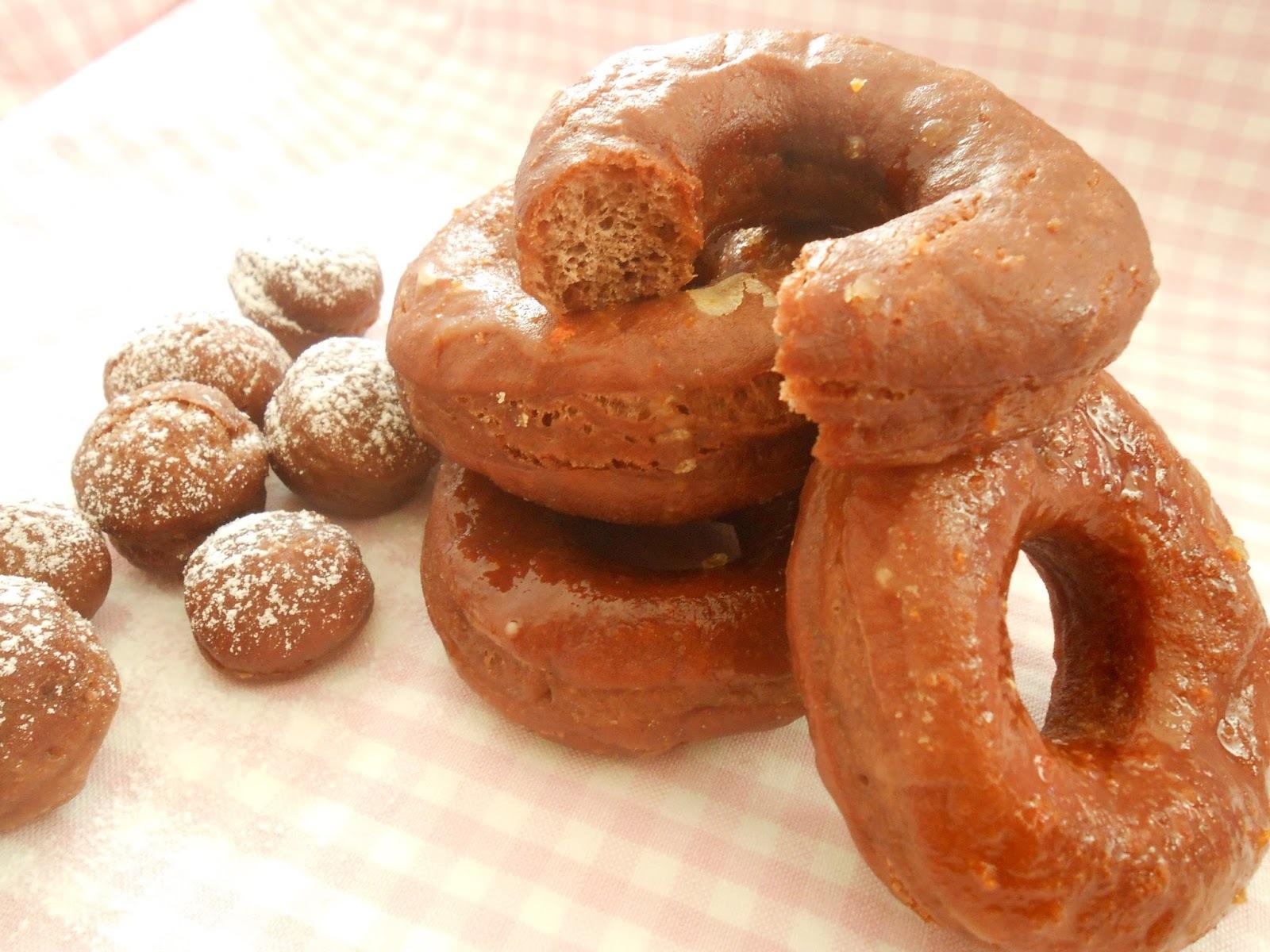 Donuts de chocolate y mandarina