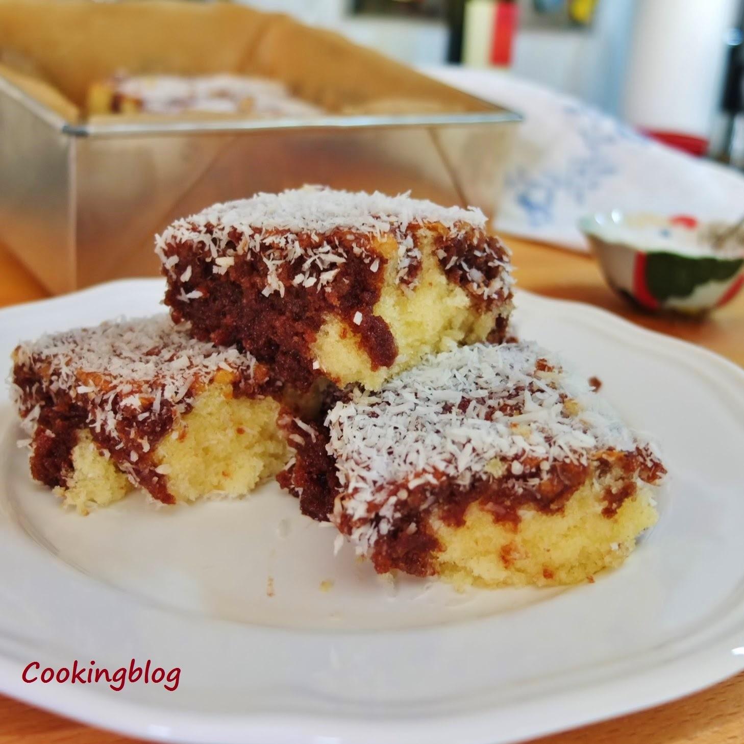 Lamington, um bolo improvisado | Lamington, an improvised cake