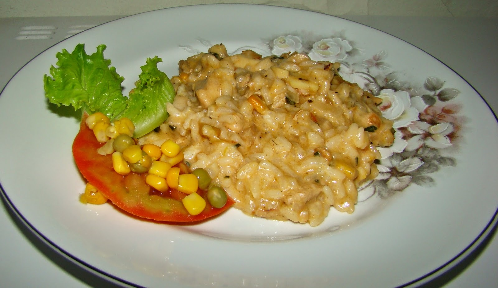 risoto peito de frango milho palmito