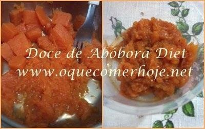 Doce de Abóbora Diet Receita