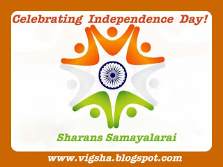 Celebrating Independence day @ Sharan's Samayalarai