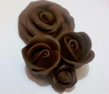 petalas de chocolate como fazer