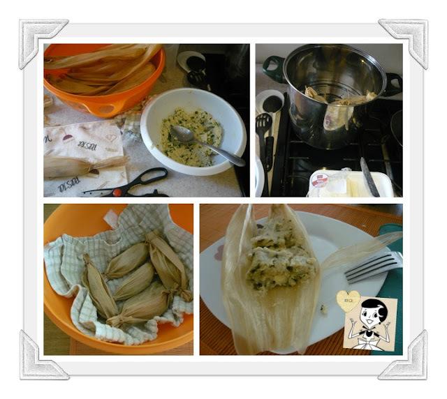 Receta Tamales de Acelga