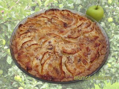 Æbletærte med kanel i karamelsvøb