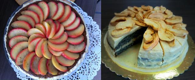 Makovo - jablková torta