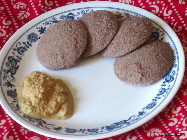 Ragi Idli ~ Steamed Finger Millet Cakes