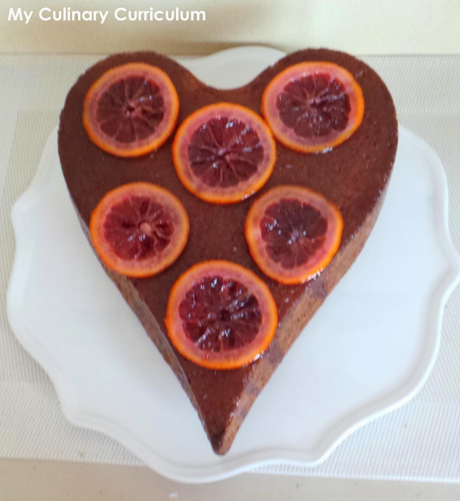 Gâteau à l'orange sanguine (Cake with blood orange)