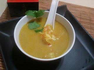 sopa curry tailandesa