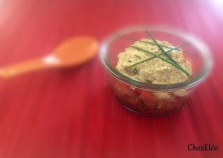 Tartare de tomates et rillettes de thon