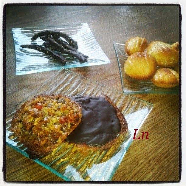 Florentins au chocolat et aux fruits confits