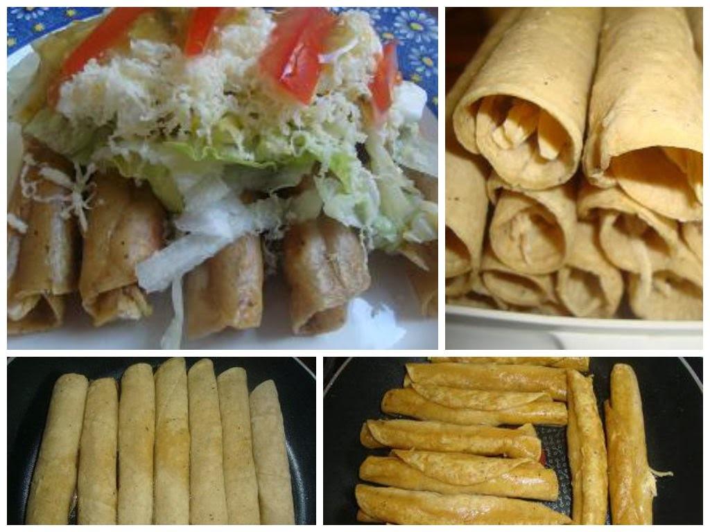 Flautas de Pollo o Tacos Dorados