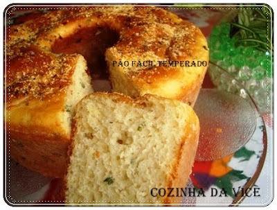 pão de liquidificador facil com fermento em pó