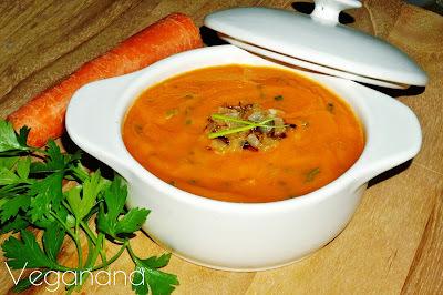 Sopa cremosa de Cenouras com Batata doce