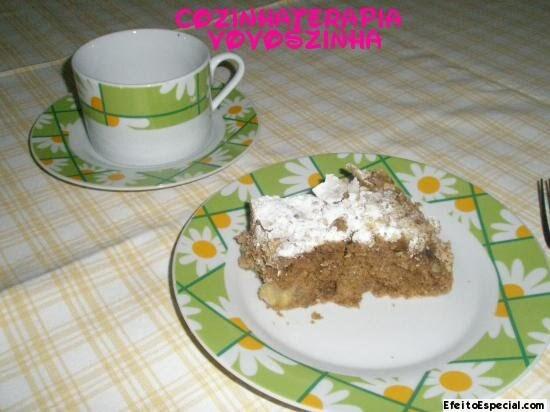 bolo de maça com farofa