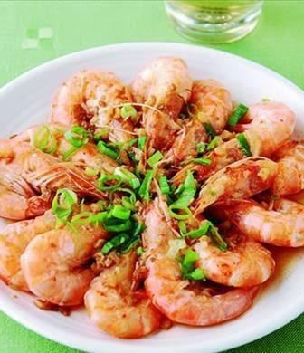 Garlic steamed shrimp