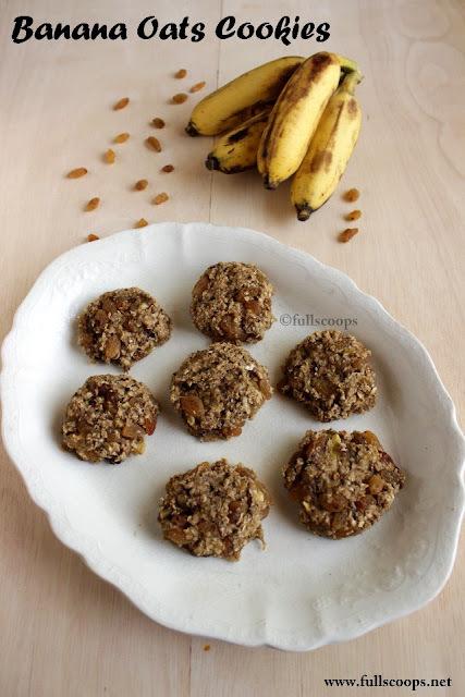 Banana Oats Cookies | No Sugar Cookies