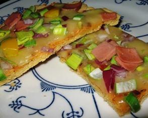 pizza med mandelmel