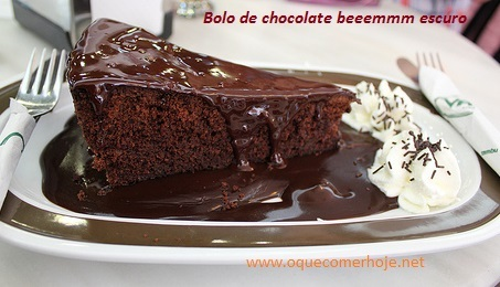 Receita de Bolo de Chocolate bem escuro