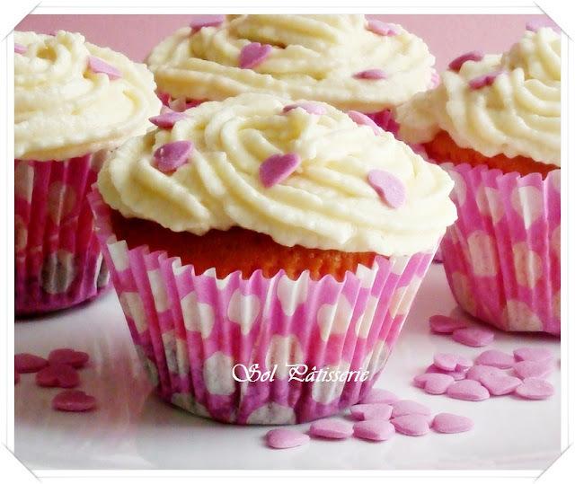 Cupcakes roses et nouveau partenariat - Cupcakes rosas e nova parceria