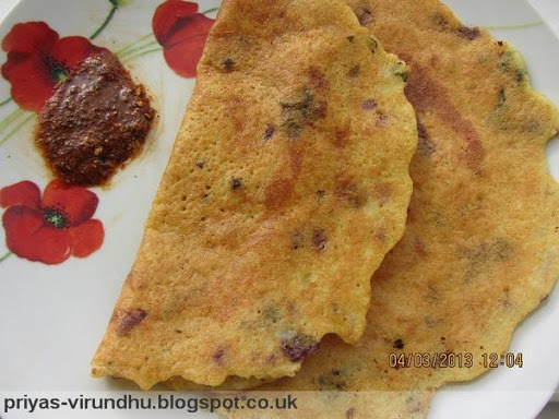 how to make adai dosa in tamil