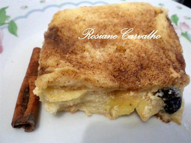 Torta de maçã no  pão de forma