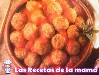 Receta de albóndigas caseras en salsa