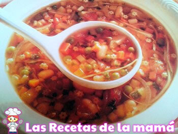 Receta de Sopa minestrone