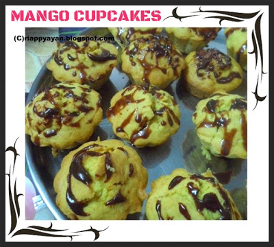 Eggless Low Fat Mango Cupcakes and announcement of Spotlight : May theme