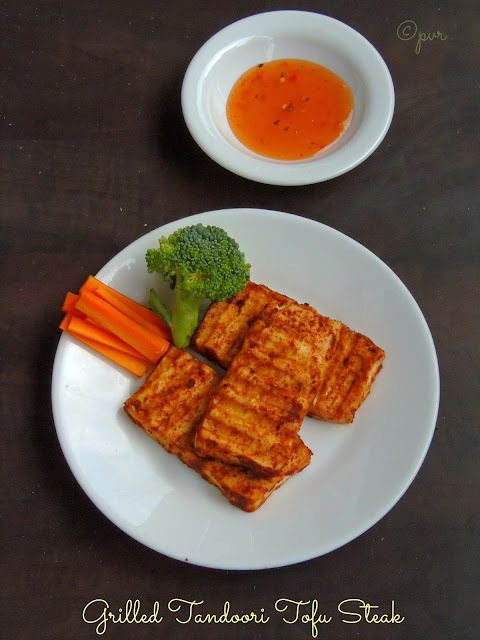 Grilled Tandoori Tofu Steak