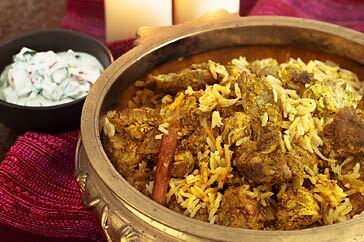 Mughlai mutton biryani