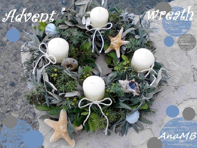 Marine Advent wreath / Morski adventski vjenčić