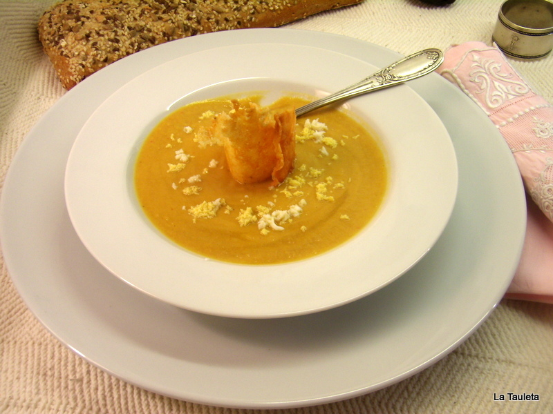 Crema de Garbanzos y Verduras al Curry