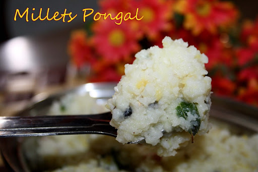 Millets ven Pongal/Thinai Arisi Pongal
