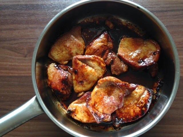 Filetes de cerdo caramelizados (20 minutos)