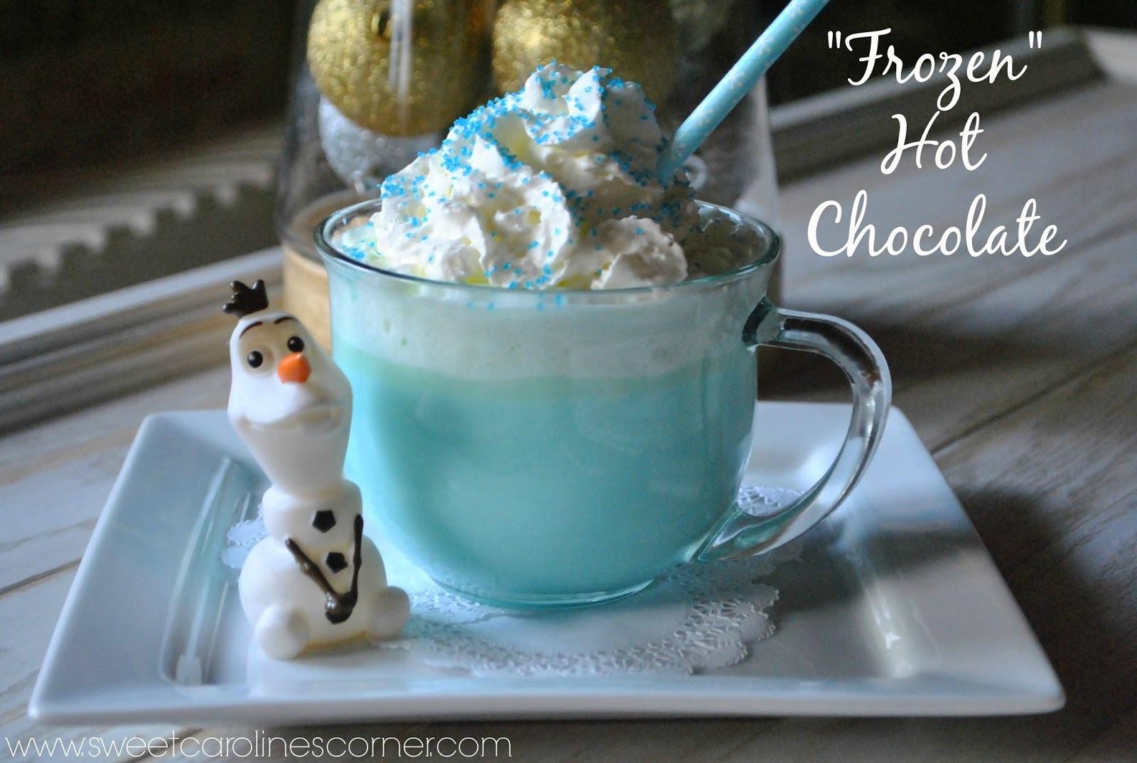 """""""Frozen"""" Hot Chocolate (Chocolate Quente Inspirado no Filme """"Frozen"""")"""