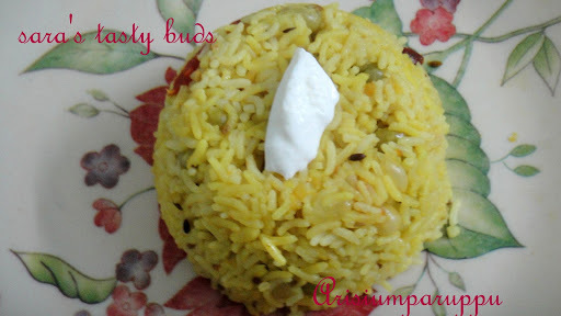 Arisiumparuppu sadham / Lentils rice