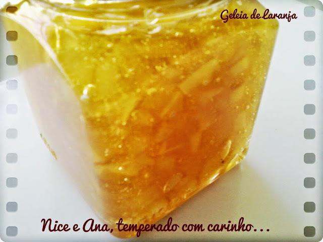 de geleia de laranja simples
