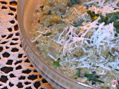 Risotto de quinua con hongos secos