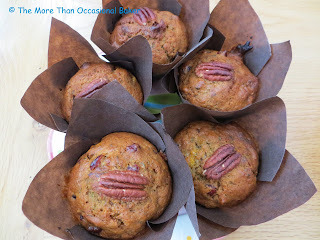 Zucchini and Orange Marmalade Muffins with Cranberry and Pecans