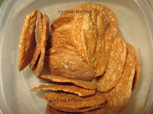 Wheat Thattai - koduma pindi billallu - thattai