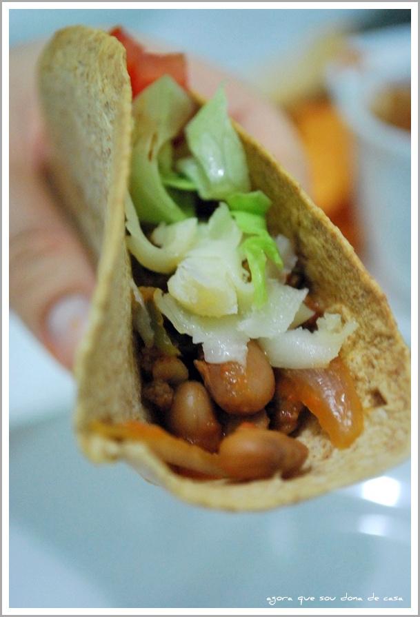 mistureba das boas: chilli vegetariano (taco)