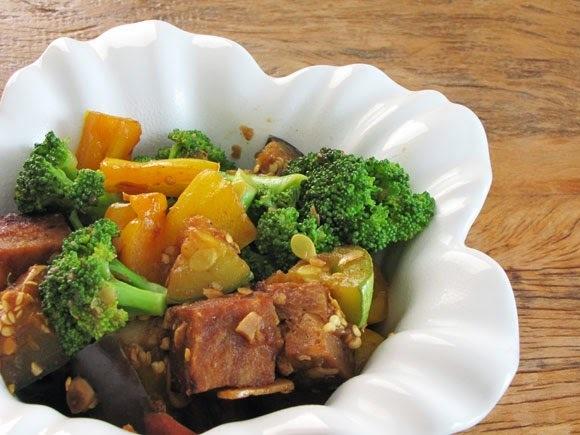 Carne Suína com Legumes