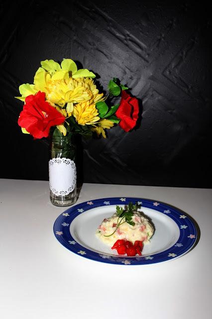Risoto de Pera com calabresa e queijo nham nham e o concurso de Risoto