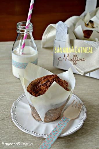 Muffins de plátano y avena, sanos y deliciosos.