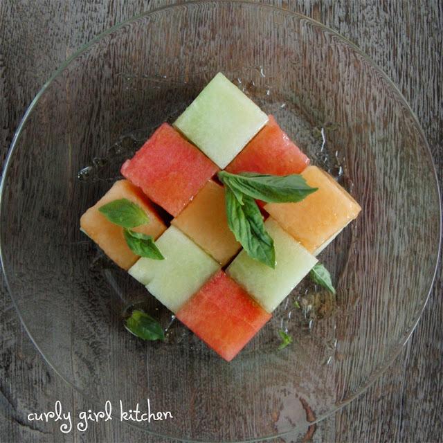 melon balls as a starter